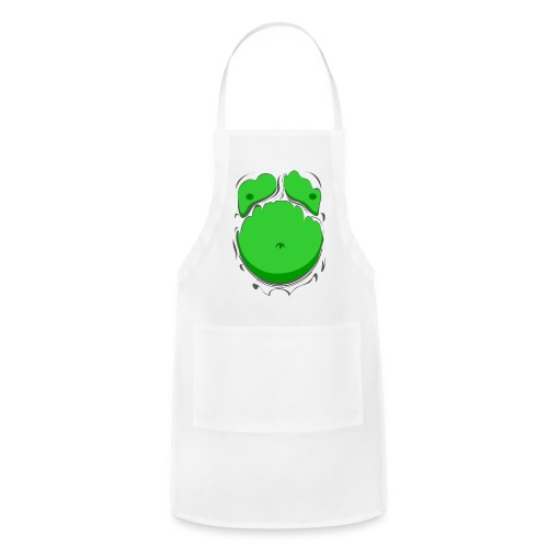 Comic Fat Belly Green, beer gut, beer belly, chest t-shirt - Adjustable Apron