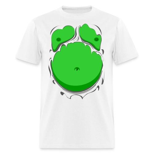 Comic Fat Belly Green, beer gut, beer belly, chest t-shirt - Men's T-Shirt