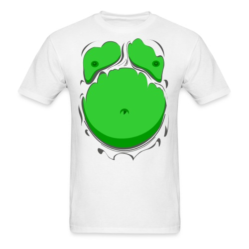 Comic Fat Belly Green, beer gut, beer belly, chest t-shirt - Men's T-Shirt