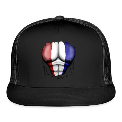 Holland Flag Ripped Muscles, six pack, chest t-shirt - Trucker Cap