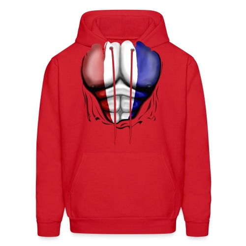 Holland Flag Ripped Muscles, six pack, chest t-shirt - Men's Hoodie