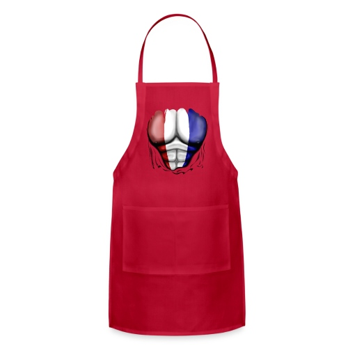 Holland Flag Ripped Muscles, six pack, chest t-shirt - Adjustable Apron