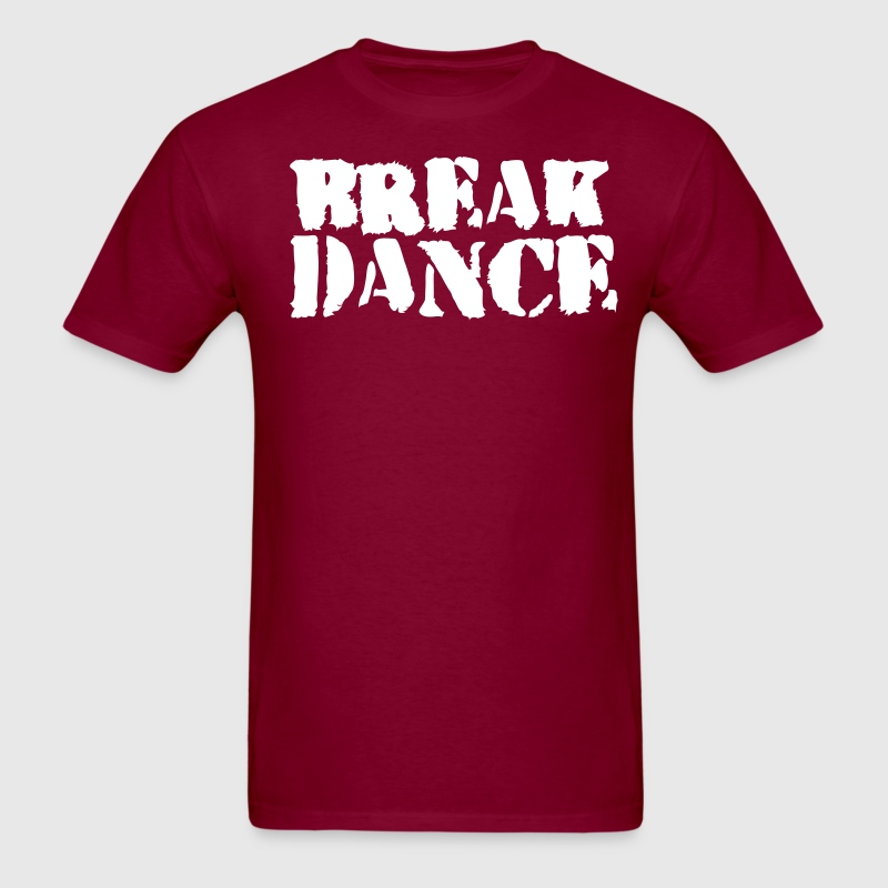 Burgundy BREAK DANCE GRAFFITI style T-Shirts - Men's T-Shirt