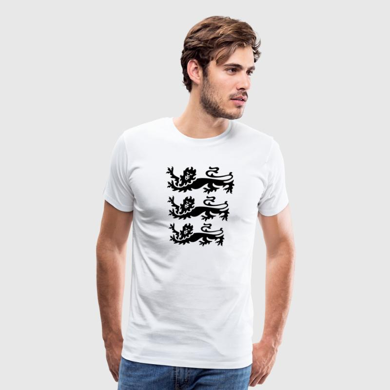 3 lions black - Men's Premium T-Shirt