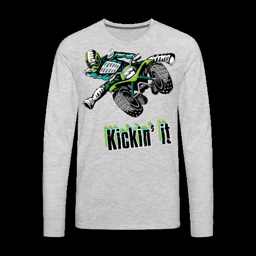 Kickin' It - Men's Premium Long Sleeve T-Shirt