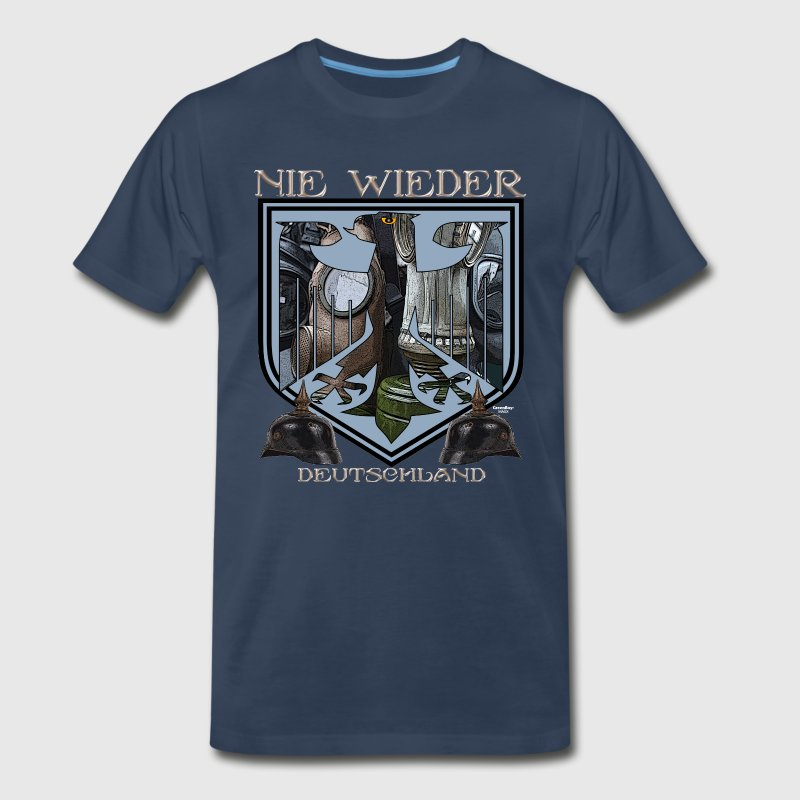 Navy Gas Mask German Eagle T-Shirts - Men's Premium T-Shirt