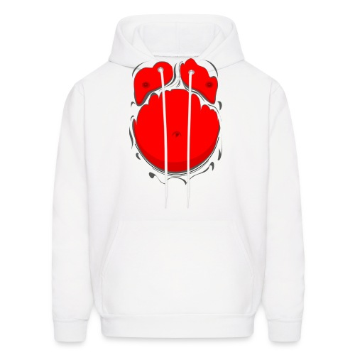 Comic Fat Belly Red, beer gut, beer belly, chest t-shirt - Men's Hoodie