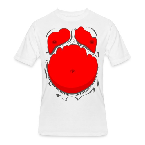 Comic Fat Belly Red, beer gut, beer belly, chest t-shirt - Men's 50/50 T-Shirt