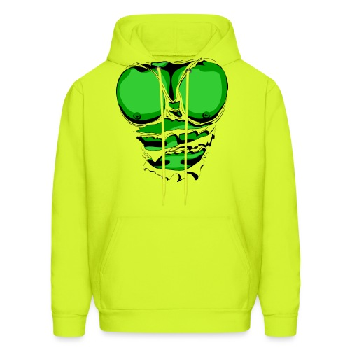 Ripped Muscles Green, six pack, chest T-shirt - Men's Hoodie