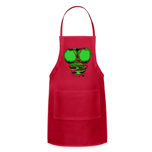 Ripped Muscles Green, six pack, chest T-shirt - Adjustable Apron