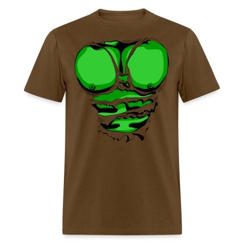 Ripped Muscles Green, six pack, chest T-shirt - Men's T-Shirt