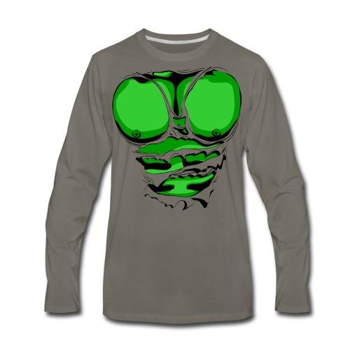Ripped Muscles Green, six pack, chest T-shirt - Men's Premium Long Sleeve T-Shirt