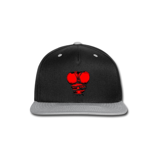 Ripped Muscles Red, six pack, chest t-shirt - Snap-back Baseball Cap