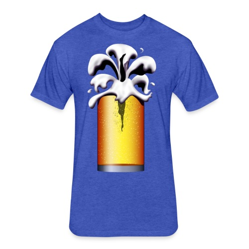 Beer Diver, beer drinker, larger lout - Fitted Cotton/Poly T-Shirt by Next Level