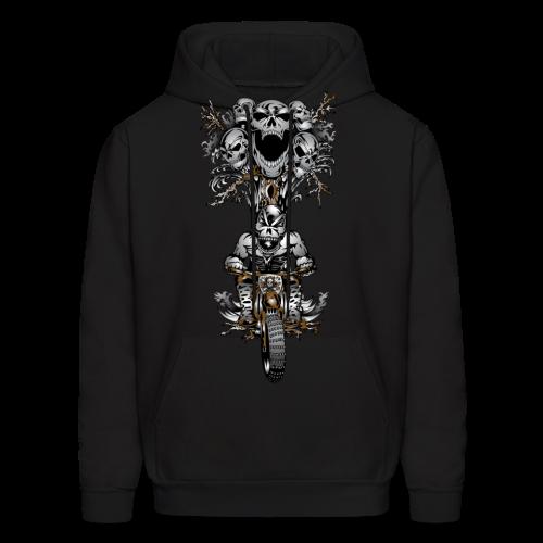 Skull Tree Dirt Biker - Men's Hoodie