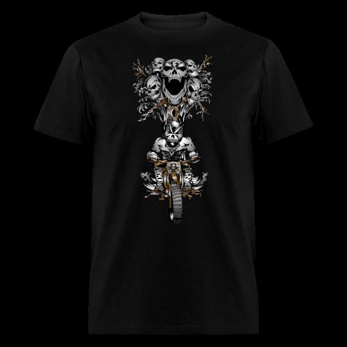 Skull Tree Dirt Biker - Men's T-Shirt
