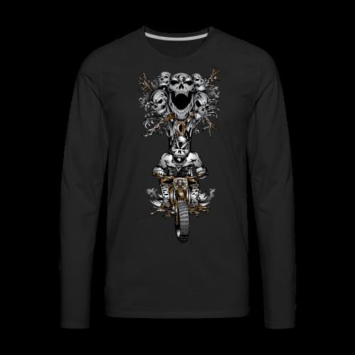 Skull Tree Dirt Biker - Men's Premium Long Sleeve T-Shirt