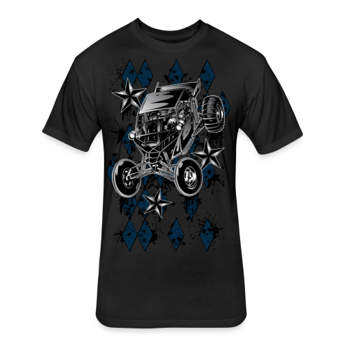 Checker Board Buggy - Fitted Cotton/Poly T-Shirt by Next Level