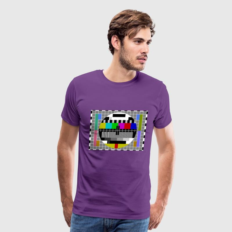 Sheldon TV Test Pattern Purple T-Shirt - Men's Premium T-Shirt