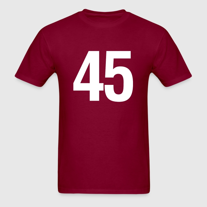 helvetica number 45 T-Shirts - Men's T-Shirt