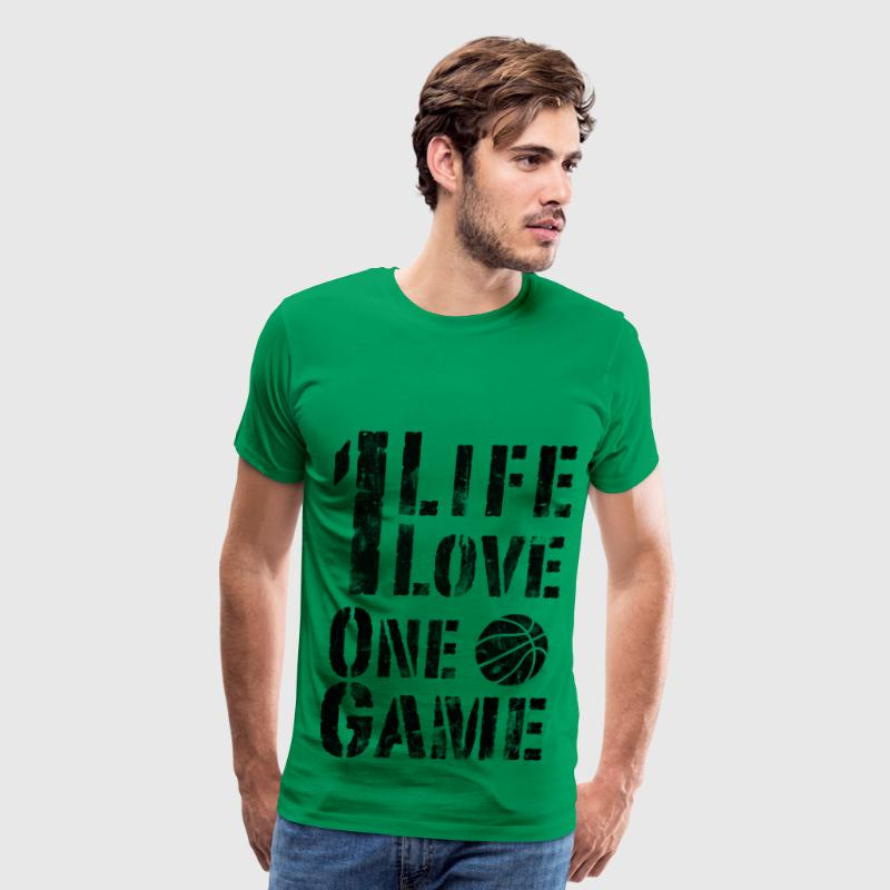 One Life, One Love, One Game Vintage Look Retro T- - Men's Premium T-Shirt