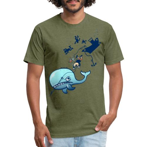 Whales are Furious! - Fitted Cotton/Poly T-Shirt by Next Level