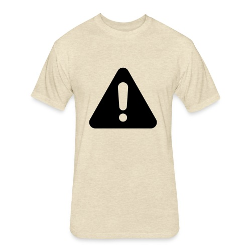 WARNING - Fitted Cotton/Poly T-Shirt by Next Level