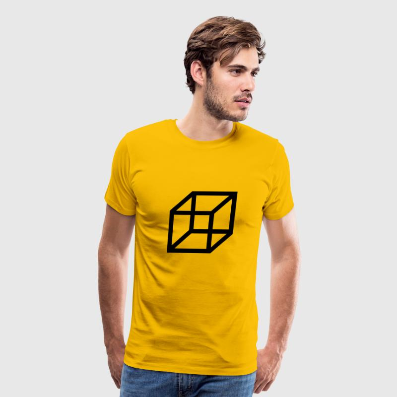 necker cube - reversible figure T-Shirts - Men's Premium T-Shirt