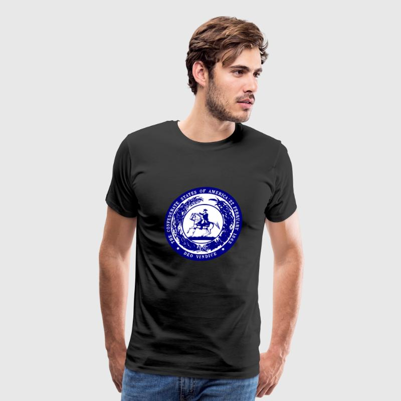 Blue Confederate Seal - Men's Premium T-Shirt