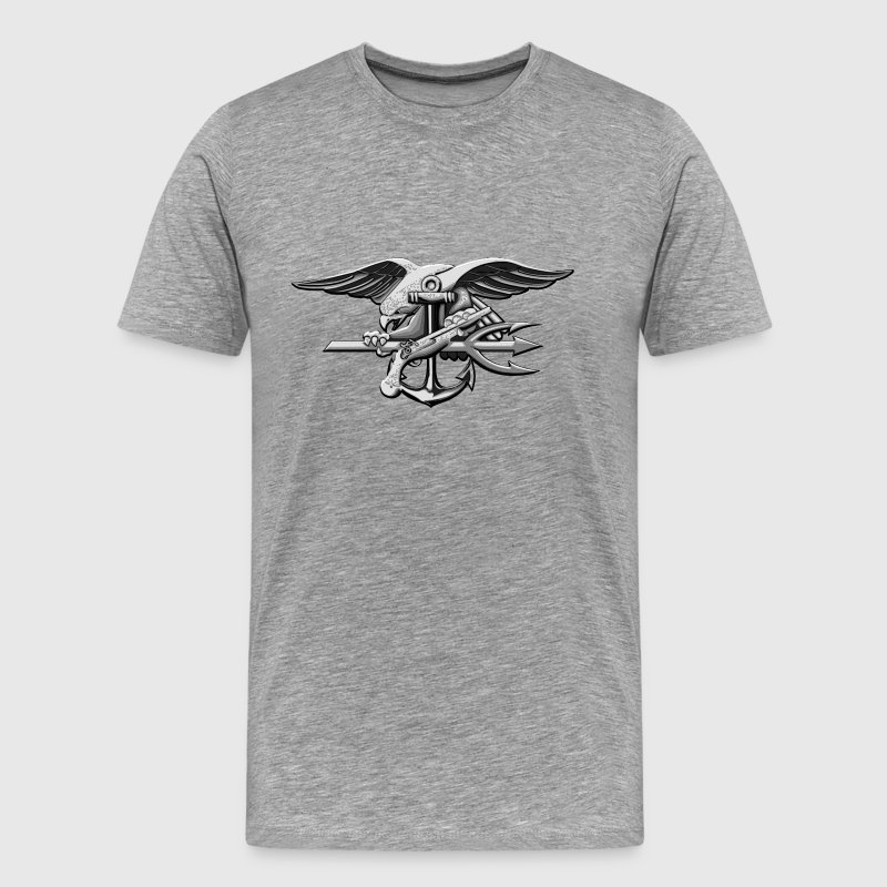 US Navy Seal Greyscale - Men's Premium T-Shirt