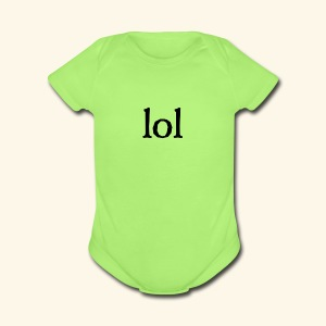 lol...ten thingy - Short Sleeve Baby Bodysuit