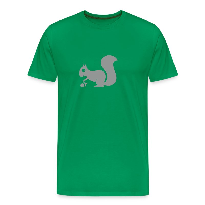 t-shirt squirrel acorn chipmunk tree forest animal - Men's Premium T-Shirt
