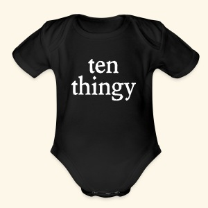 Ten Thingy - Short Sleeve Baby Bodysuit