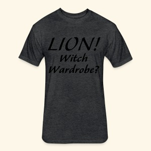 Lion! Witch Wardrobe? - Fitted Cotton/Poly T-Shirt by Next Level