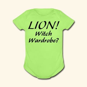 Lion! Witch Wardrobe? - Short Sleeve Baby Bodysuit