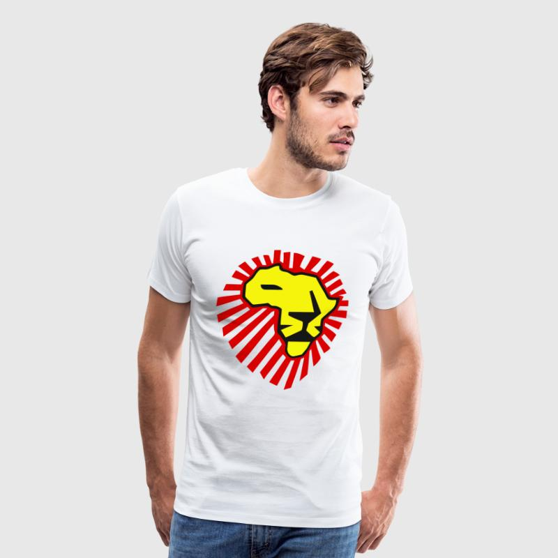 Waka Waka Yellow Lion / Red Mane T-Shirt T-Shirts - Men's Premium T-Shirt