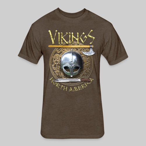 Vikings North America T-Shirt Logo Front/Tagline Back - Fitted Cotton/Poly T-Shirt by Next Level