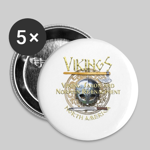 Vikings North America T-Shirt Logo Front/Tagline Back - Large Buttons