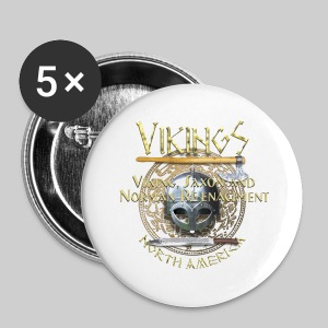 Vikings North America T-Shirt Logo Front/Tagline Back - Small Buttons