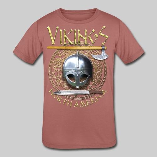 Vikings North America T-Shirt Logo Front/Tagline Back - Kids' Tri-Blend T-Shirt