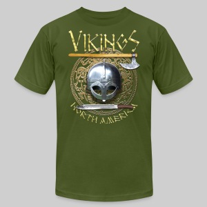 Vikings North America T-Shirt Logo Front/Tagline Back - Men's Fine Jersey T-Shirt