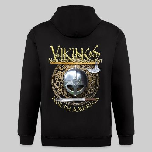 Vikings North America T-Shirt Logo Front/Tagline Back - Men's Zip Hoodie