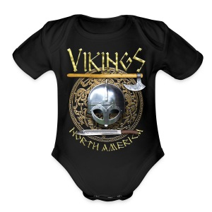 Vikings North America T-Shirt Logo Front/Tagline Back - Short Sleeve Baby Bodysuit