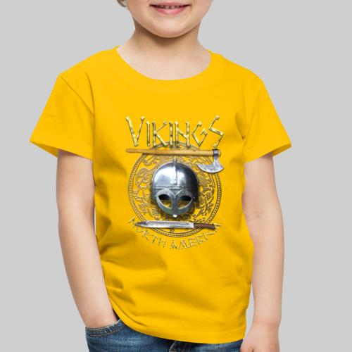 Vikings North America T-Shirt Logo Front/Tagline Back - Toddler Premium T-Shirt