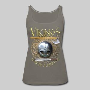 Vikings North America T-Shirt Logo Front/Tagline Back - Women's Premium Tank Top