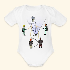 Busting in Narnia - Short Sleeve Baby Bodysuit