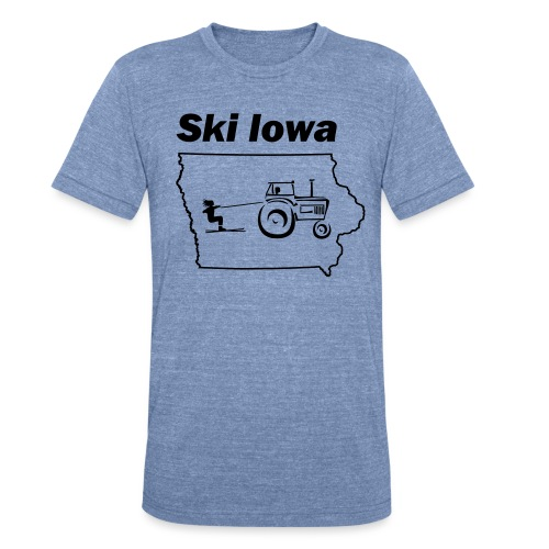 Ski Iowa - Unisex Tri-Blend T-Shirt by American Apparel