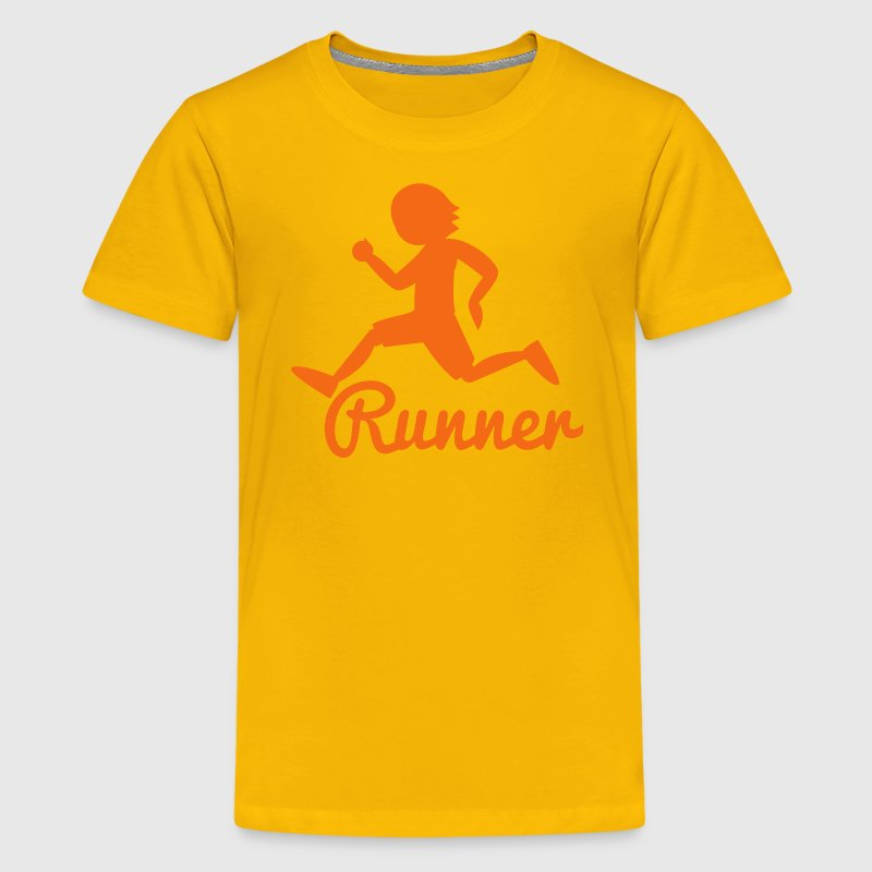 RUNNER shape person running Kids' Shirts - Kids' Premium T-Shirt