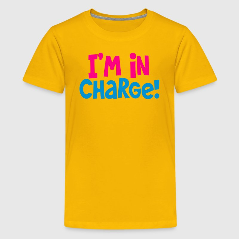 i'm in charge! Boss bossy shirt Kids' Shirts - Kids' Premium T-Shirt