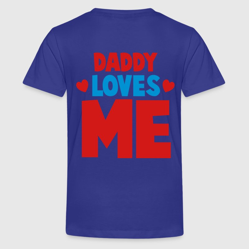 DADDY LOVES ME with little hearts Kids' Shirts - Kids' Premium T-Shirt